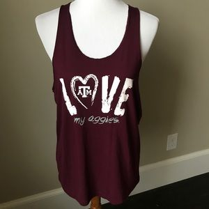 Texas A & M racer back tank